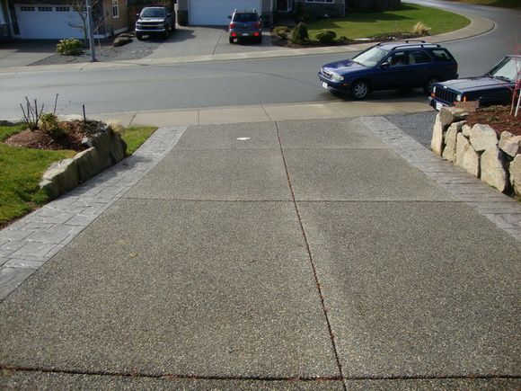 Excel concrete finishing driveways for Acid wash concrete patio